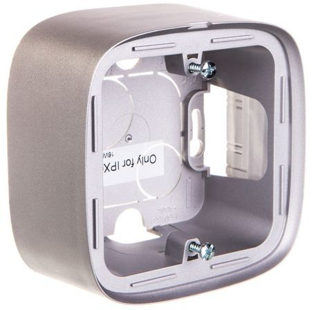 VALENA ALLURE Puszka natynkowa pojedyncza aluminium 755571
