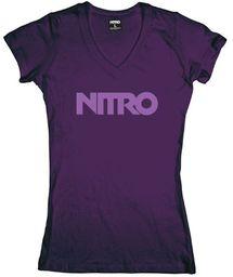 Nitro Męski T-shirt WORDMARK TONAL, fioletowy, M