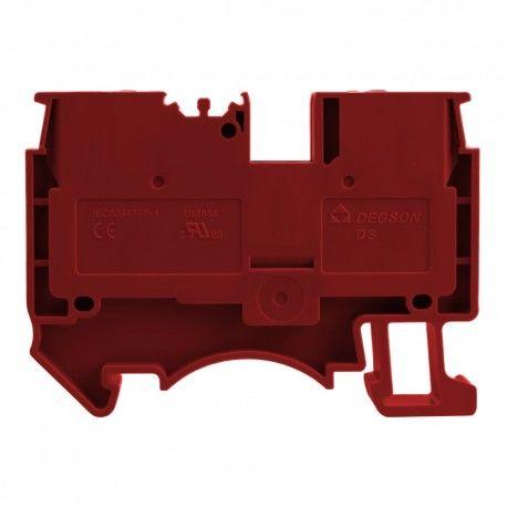 Złączka szynowa przelotowa zaciskowa czerwona 4mm2 1P UL
