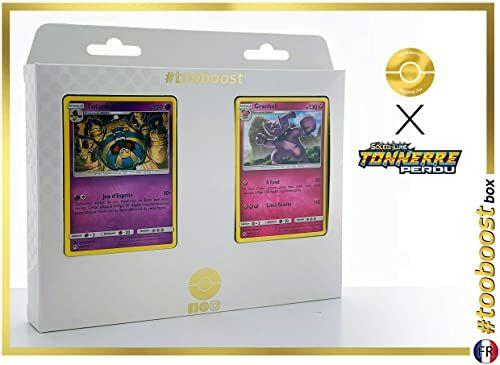 Tutankafer (Echnatoll) 100/214 & Granbull 138/214  #tooboost X Soleil & Lune 8 Tonnerre Perdu  pudełko z 10 francuskimi kartkami Pokémon + 1 Pokémon-Goodie