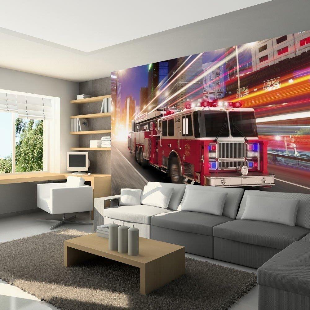 Fototapeta - wóz strażacki