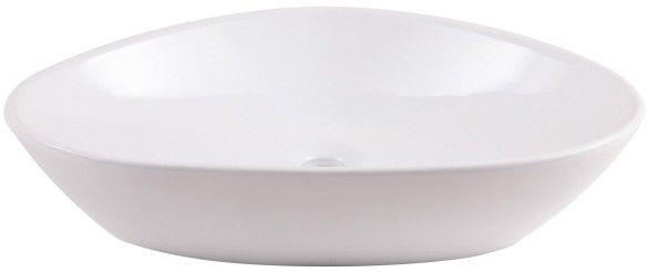 Umywalka nablatowa ceramiczna GoodHome Kotra 58 x 38 cm biała
