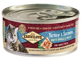 Brit Carnilove Turkey & Salmon Indyk Łosoś Adult Cats 100 g