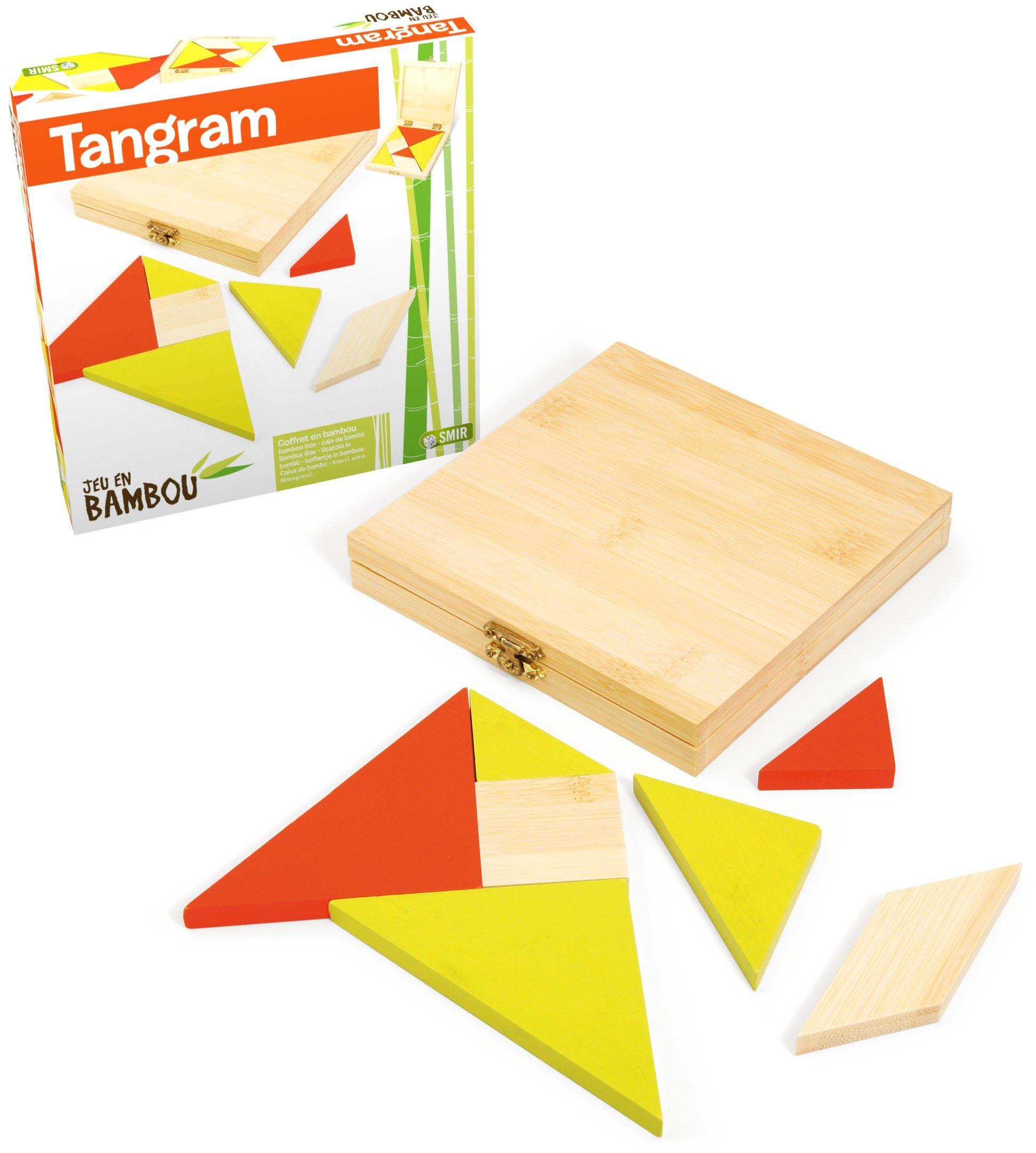 Jeujura JeujuraJ66103 Tangram gra w bambusu, wielokolorowa