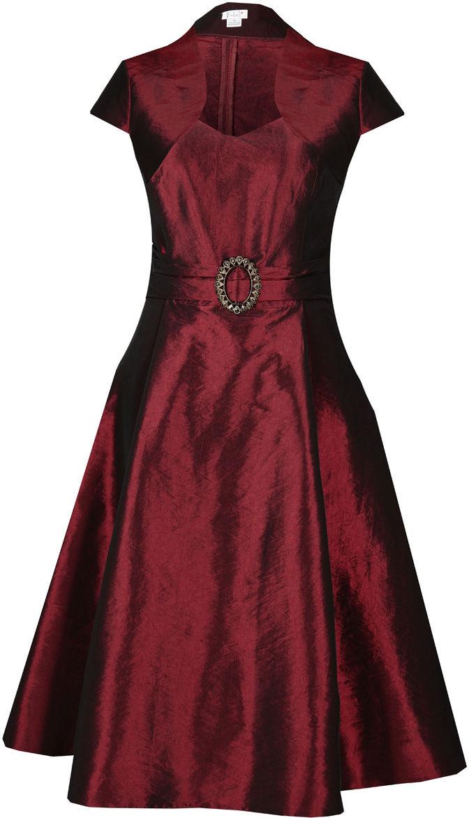 Sukienka FSU135 BORDOWY