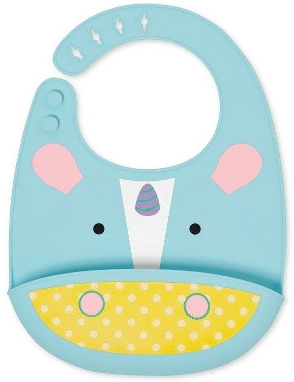 Silikonowy śliniak Zoo Jednorożec 232204-Skip Hop, akcesoria dla dzieci