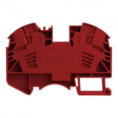 Złączka szynowa przelotowa zaciskowa czerwona 16mm2 1P