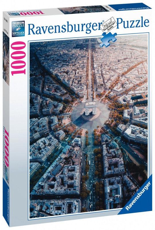 Ravensburger Polska Puzzle 1000 elementów Paryż z lotu ptaka
