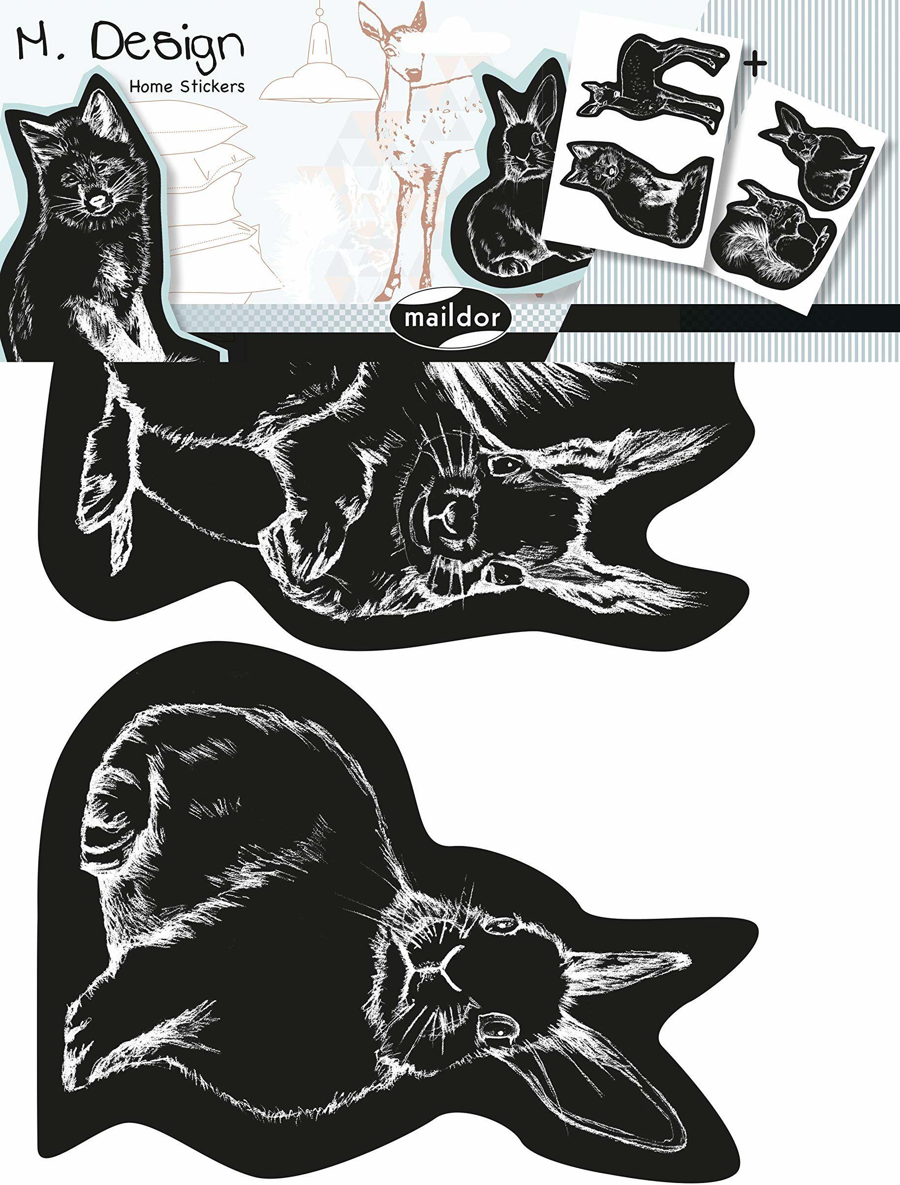 DecoPatch  ad034o  Maildor  wzór męski  naklejka ścienna  Lot de 2 Boże Narodzenie  23 x 35 cm  zwierzęta z lasu