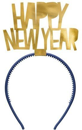 Opaska na Sylwestra Happy New Year 1 szt OPP34-019M