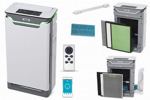 Oczyszczacz powietrza Warmtec AP350W+ do 80m2, WIFI, sterowanie przez smartfona