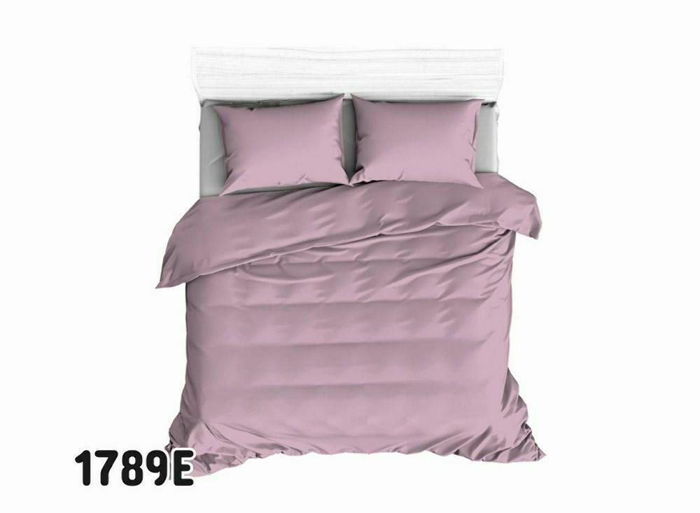 Pościel bawełniana 160x200 1789E różowa brudna 76 jednobarwna