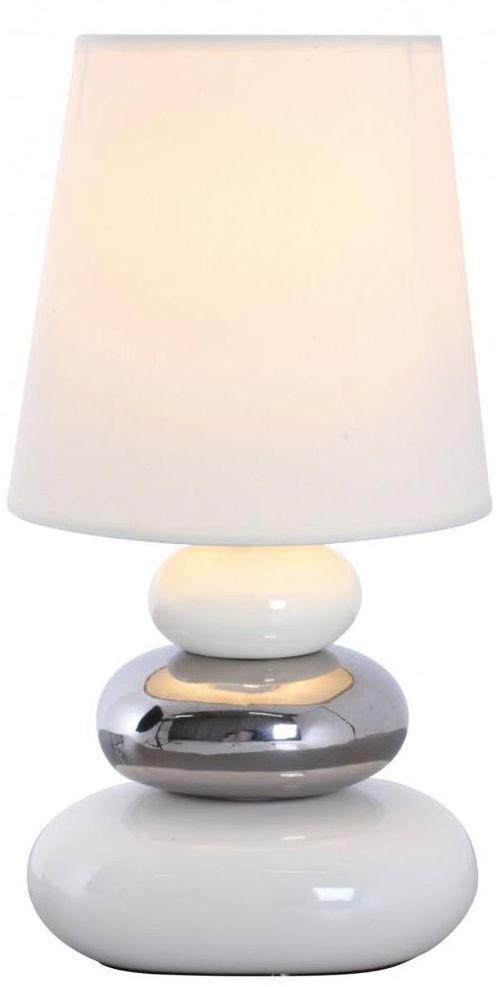 Lampa stołowa KAMYKI biała E14 NAVE