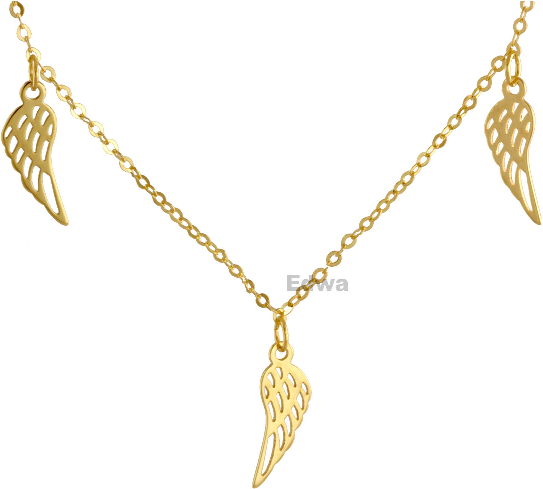 Łańcuszek złoty celebrytka ze skrzydełkami, pr.585