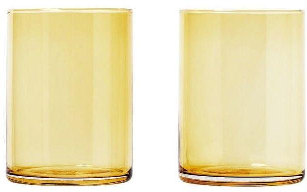 Blomus - zestaw 2 szklanek, 0,22 l, złoty