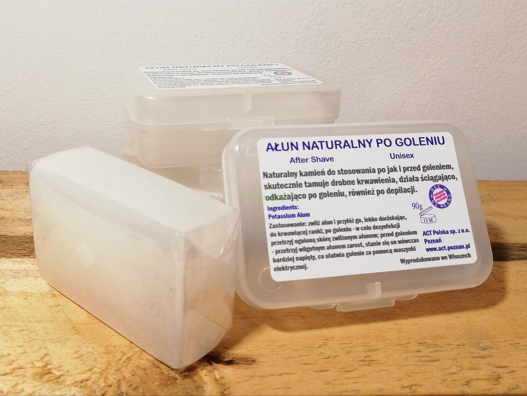 ACT NATURAL ałun naturalny kamień po goleniu 90g unisex