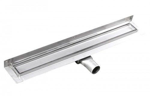 Odpływ liniowy ze stali nierdzewnej, przyścienny PIASTRA, 850x112x55mm