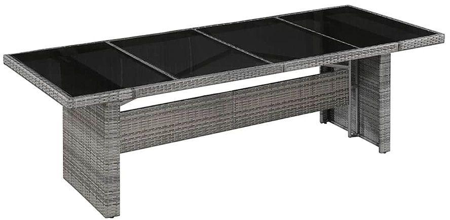 Sielski stół ogrodowy Semma 1Q - szaro-czarny