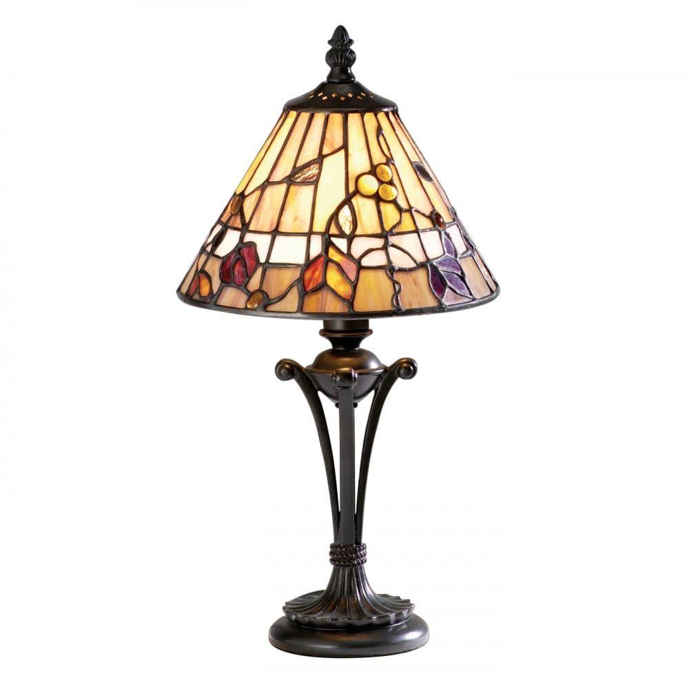 Lampa stołowa TIFFANY BERNWOOD - 63950 - INTERIORS 1900  Skorzystaj z kuponu -10% -KOD: OKAZJA