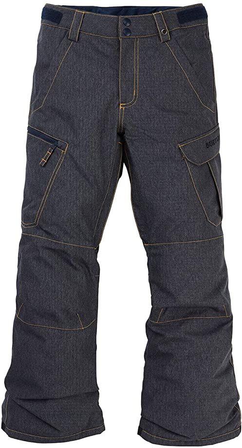 Burton Chłopięce spodnie snowboardowe Exile Cargo, Denim, S