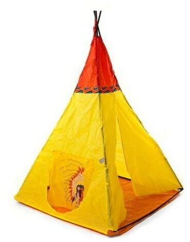 Indian III namiot z nadrukiem dla dzieci żółty, 100 x 100 x 135 cm