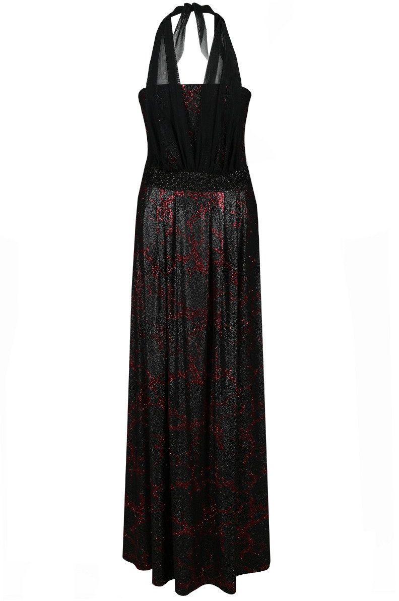 Sukienka FSU111 CZARNY BORDOWY