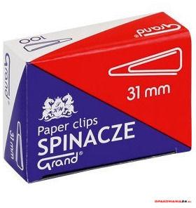 Spinacz T-31 mm GRAND trójkątny 10op x 100sztuk 110-1387