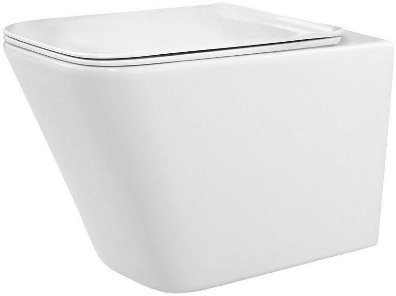 Miska WC podwieszana z deską Raul Rimless Rea (REA-C9660)