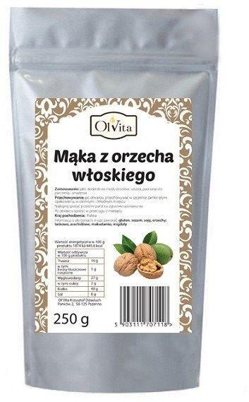 Mąka z Orzecha Włoskiego Olvita, 250 g