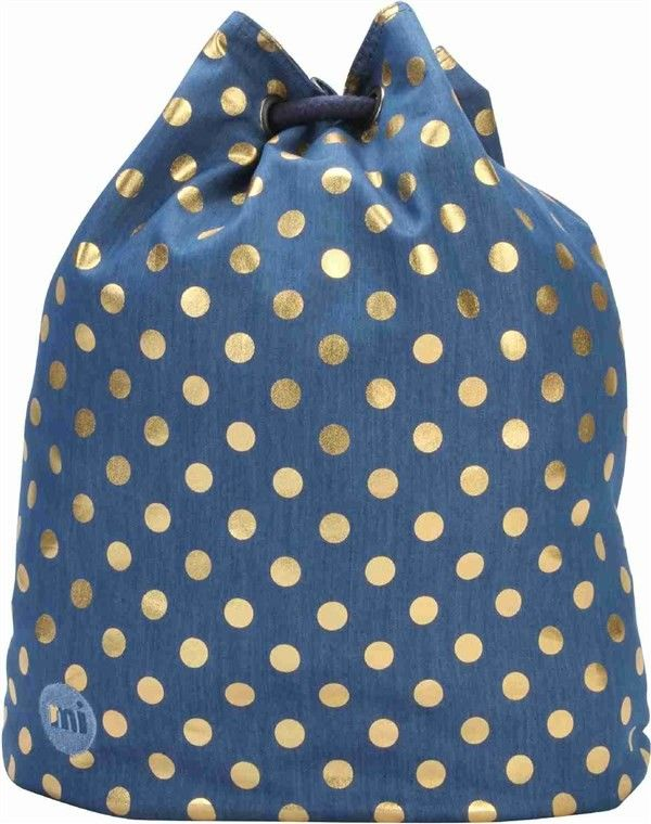 worek na plecy MI-PAC - Swing Bag Denim Polka Indigo/Gold (007)