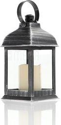 LAMPION Z ŚWIECĄ LED, Latarnia, ŚWIECZNIK, Znicz CZARNY wys 22,5 cm
