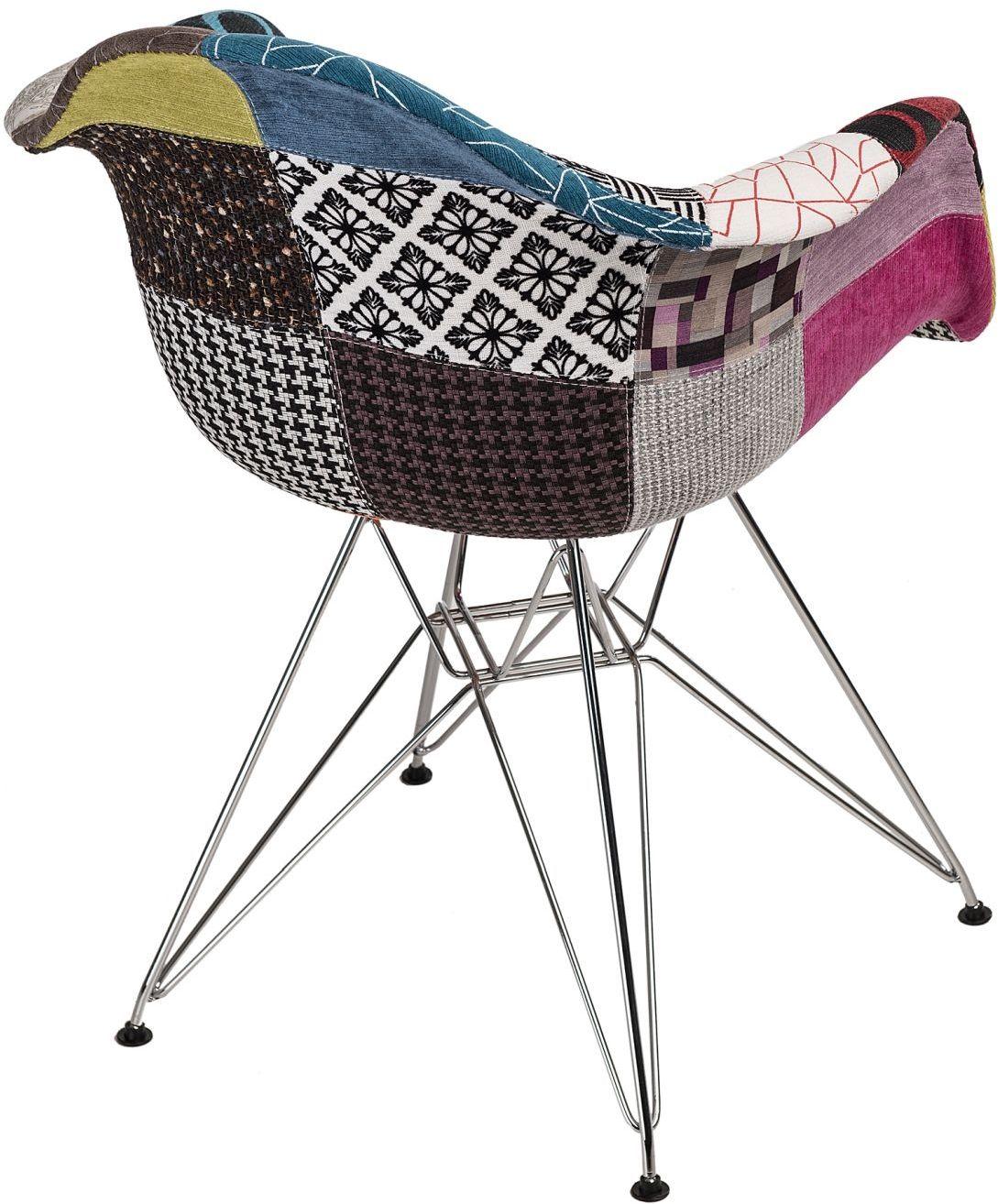 D2 Krzesło P018 DAR patchwork kolorowy