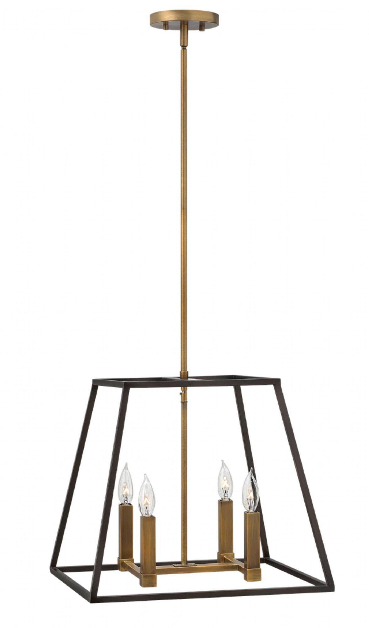 Lampa wisząca Fulton HK/FULTON/4P Hinkley poczwórna oprawa w dekoracyjnym stylu