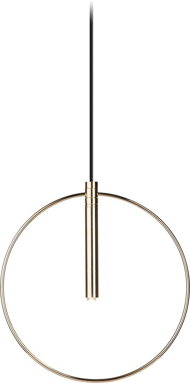Lampa wisząca Faro 0553 Amplex okrągła oprawa w kolorze złotym