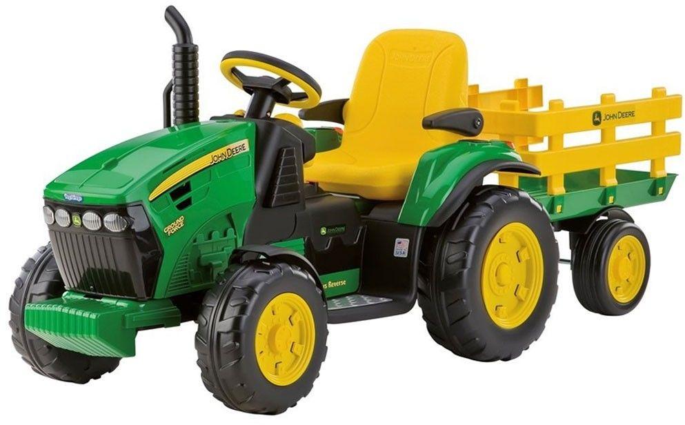 Traktor Na akumulator z Przyczepą John Deere Peg Perego Power Pull