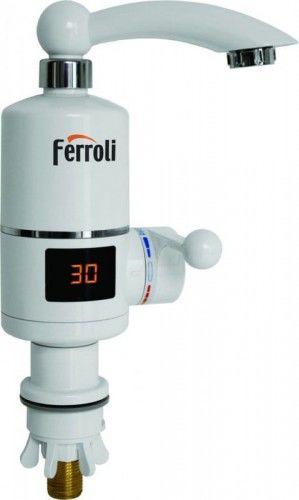 Bateria z podgrzewaczem wody do umywalki, Wyświetlacz LCD Ferroli Argo
