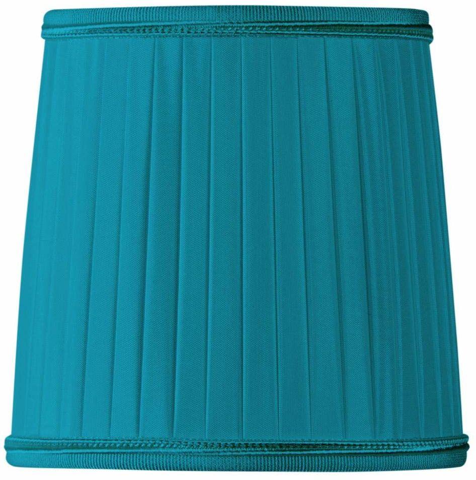 Klosz lampy/szczypce plisowane, płomień, Ø 10 x 07 x 10 cm, turkusowy