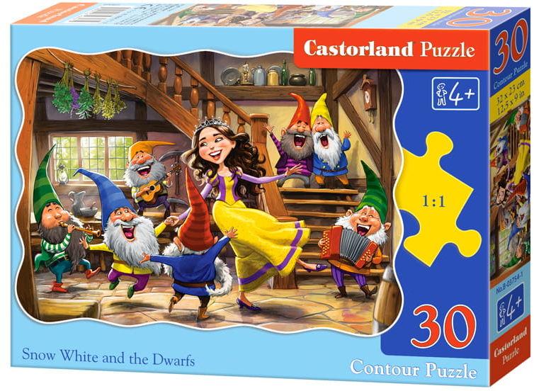 Puzzle 30 Królewna Śnieżka i Krasnoludki CASTOR