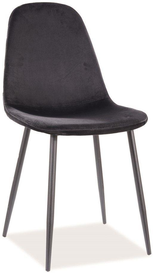 Krzesło FOX VELVET czarny stelaż, czarne aksamit TAP.117