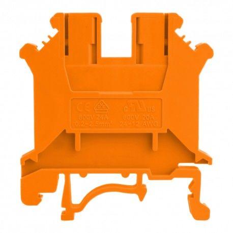 Złączka szynowa przelotowa pomarańczowa śrubowa 6mm2 1P VDE UL