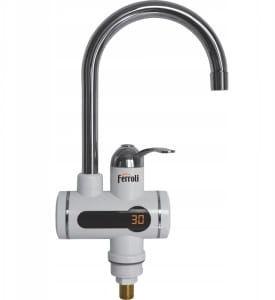 Bateria z podgrzewaczem wody do zlewu, Wyświetlacz LCD FERROLI STROM