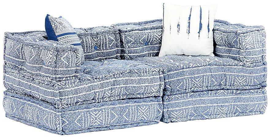 Dwuosobowa sofa modułowa indygo - Demri 3D