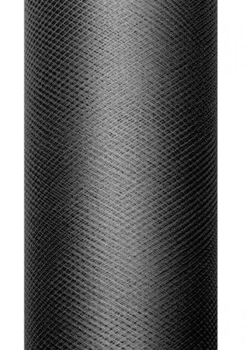 Czarny tiul, gładki 50 cm