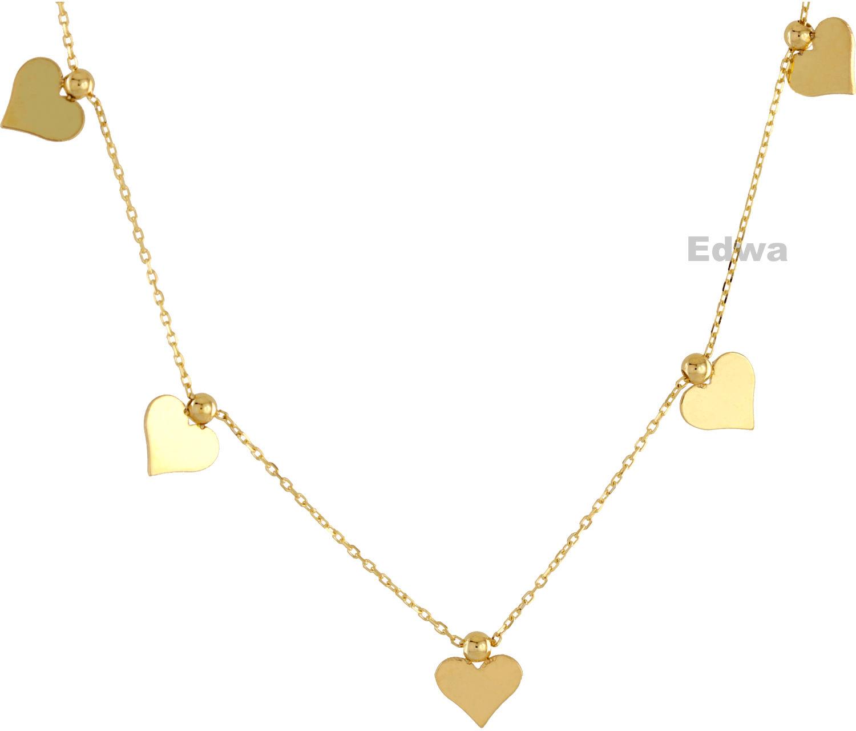 Łańcuszek złoty celebrytka z serduszkami pr.585