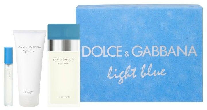 Dolce Gabbana Light Blue - damska EDT 100 ml + mleczko do ciała 100 ml + EDT 7,4 ml