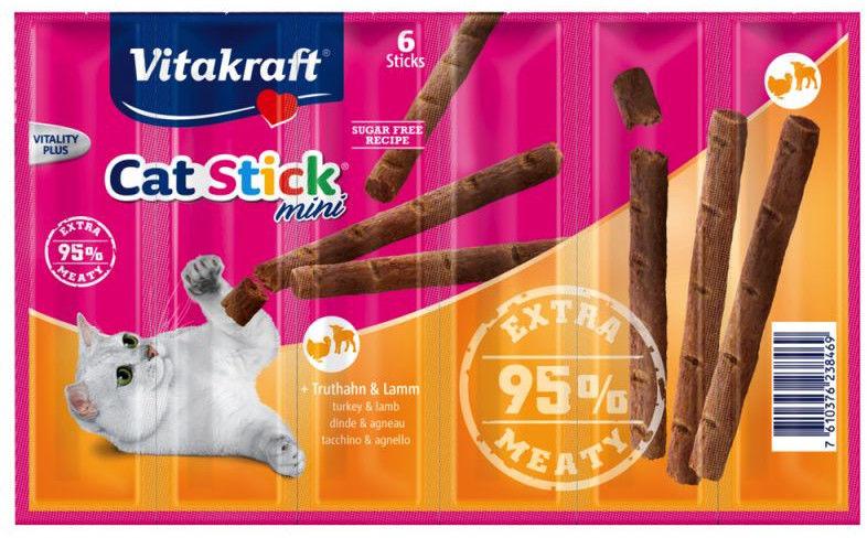 Vitakraft Cat Stick Mini Indyk z jagnięciną 6szt