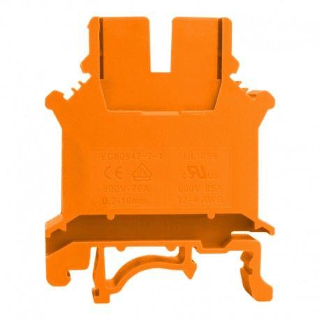 Złączka szynowa przelotowa pomarańczowa śrubowa 16mm2 1P VDE UL