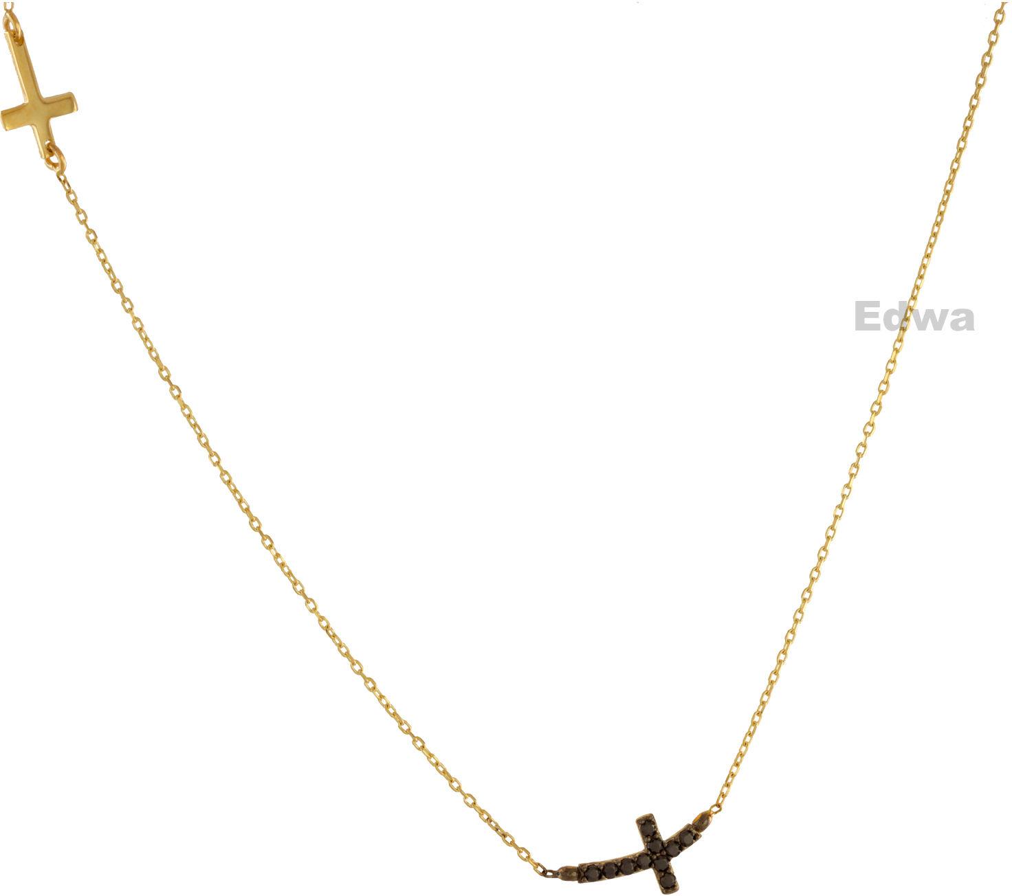 Łańcuszek złoty celebrytka z Krzyżykami pr.585