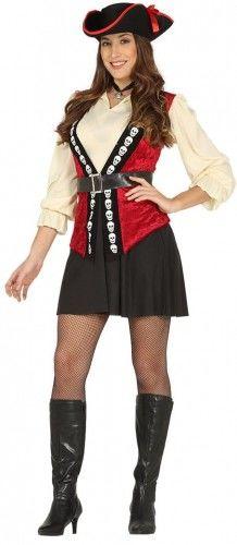 Kostium dla kobiety Piratka Elegantka z Czaszkami