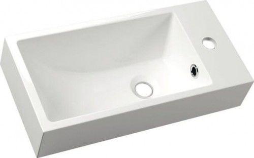 ARIANA umywalka kompozytowa 50x10x25 cm, biała, lewa